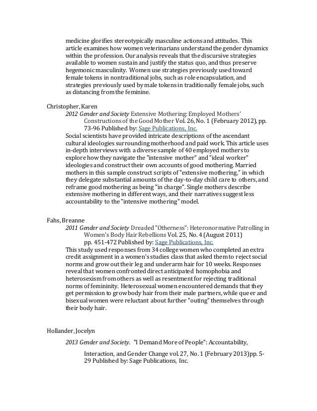 Annotated bibliography on parenting attitudes towards
