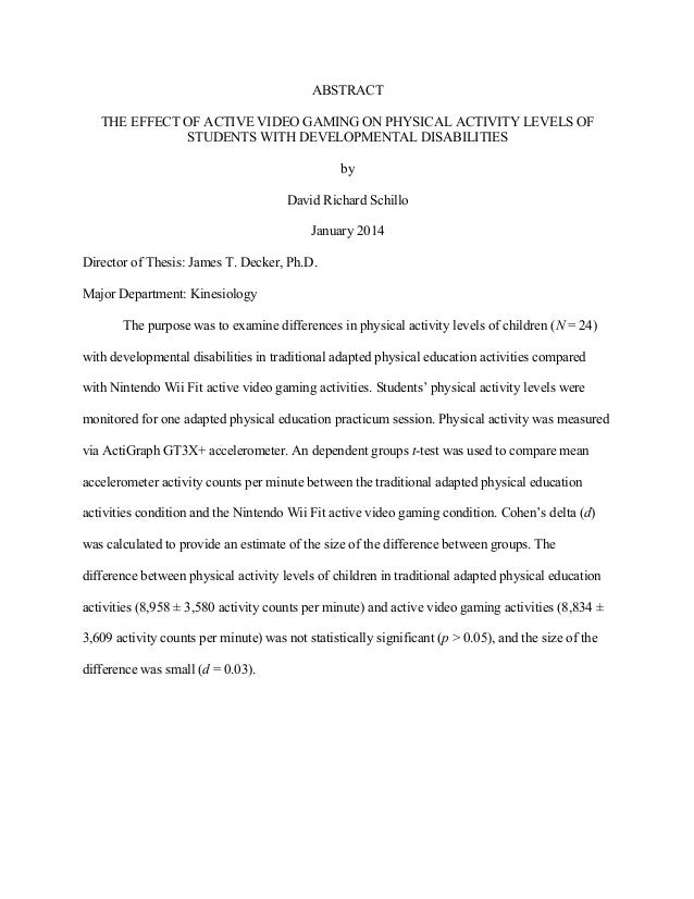thesis statement on physical education Physical education has always been a part of the united states school systems  however, spending cuts and rising academic requirements have put this.