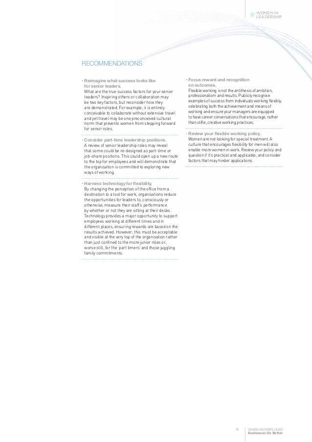 Women in leadership term paper