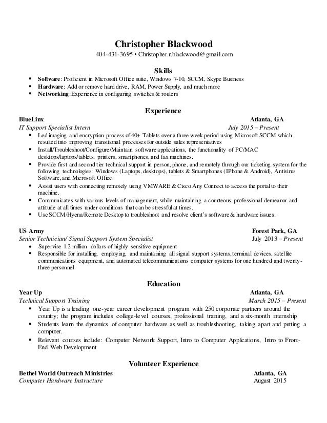 christopher resume