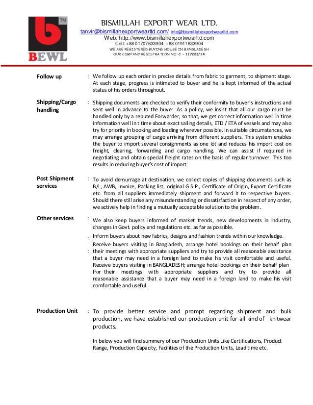 Bewl company profile pdf 4 yadclub Image collections