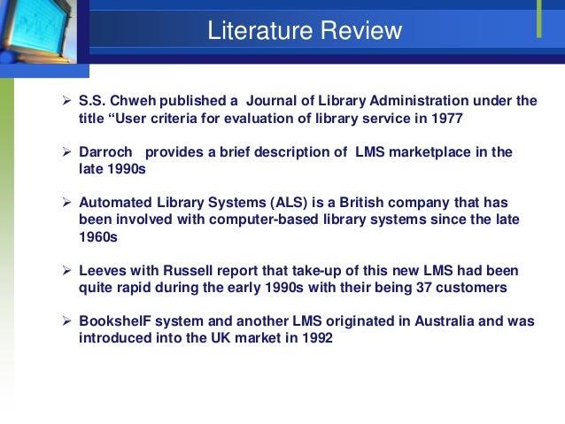 review of related literature automated library system