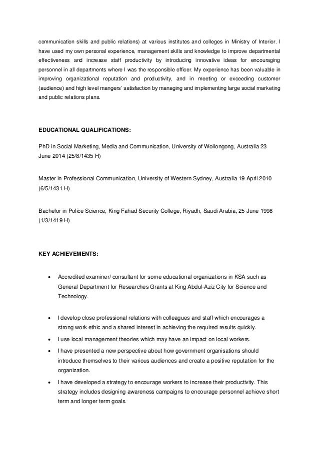 communication skills and public relations) at various institutes and colleges in Ministry of Interior. I have used my own ...