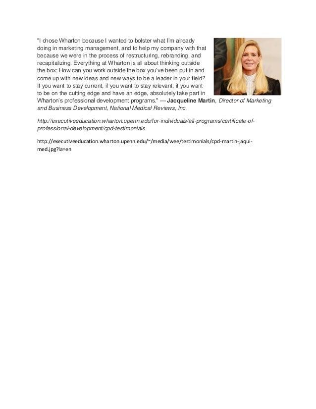 Wharton Client Testimonial