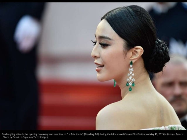 """Fan Bingbing attends the opening ceremony and premiere of """"La Tete Haute"""" (Standing Tall) during the 68th annual Cannes Fi..."""