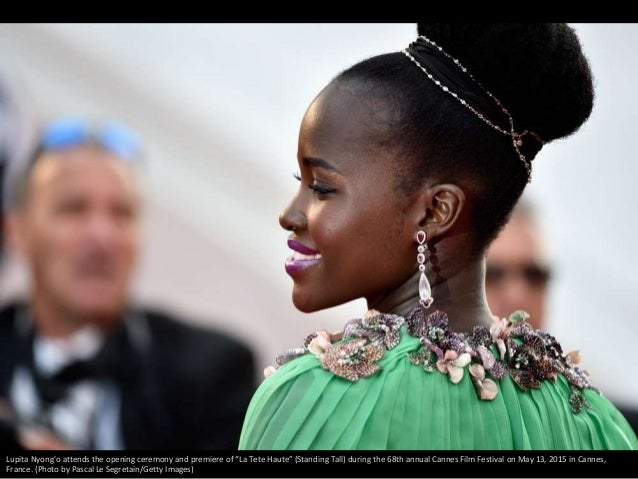 """Lupita Nyong'o attends the opening ceremony and premiere of """"La Tete Haute"""" (Standing Tall) during the 68th annual Cannes ..."""