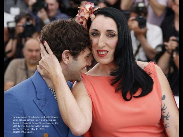 Jury members film director and actor Xavier Dolan (L) and actress Rossy de Palma pose during a photocall before the openin...