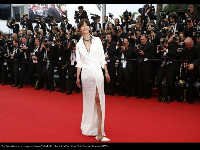 Sophie Marceau at the premiere of 'Mad Max: Fury Road' on May 14 in Cannes, France. GETTY