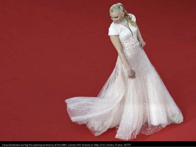 Tanya Dziahileva during the opening ceremony of the 68th. Cannes Film Festival on May 13 in Cannes, France. GETTY