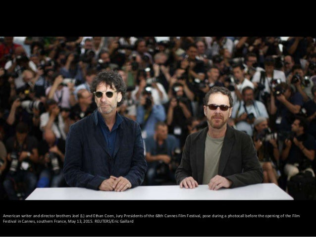 American writer and director brothers Joel (L) and Ethan Coen, Jury Presidents of the 68th Cannes Film Festival, pose duri...