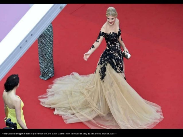 Hofit Golan during the opening ceremony of the 68th. Cannes Film Festival on May 13 in Cannes, France. GETTY