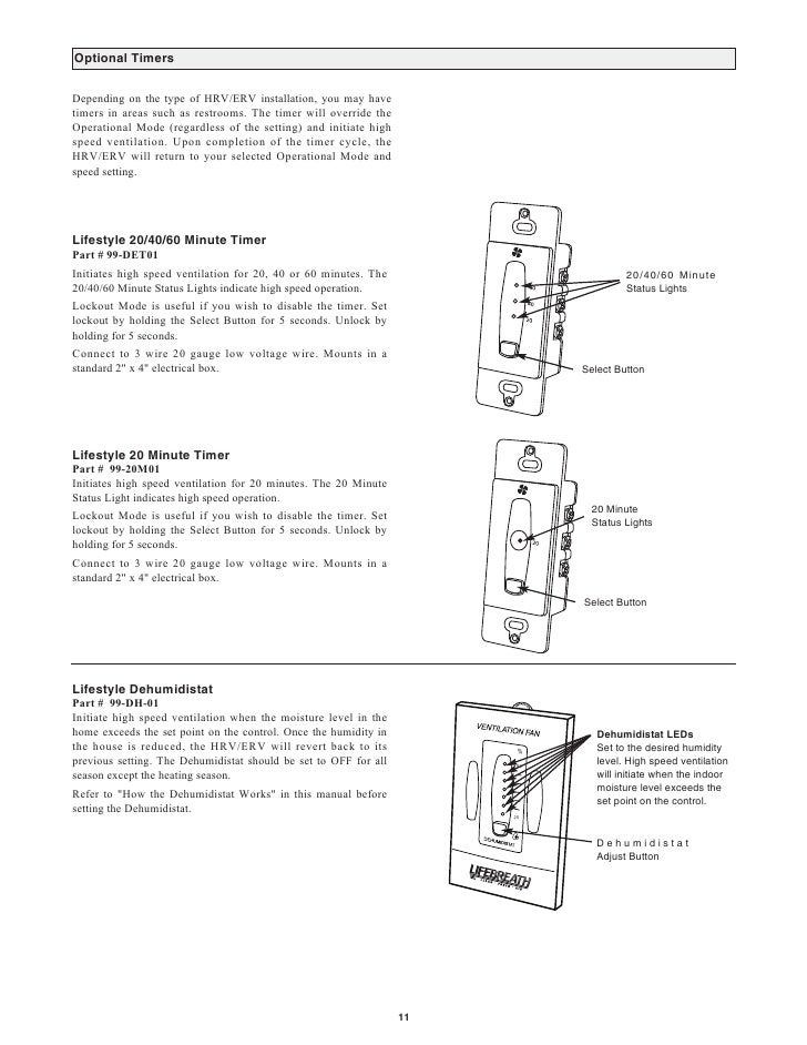 Lifebreath Operation  U0026 Installation Manual Max Series 500 Erv