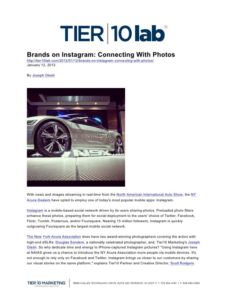 Brands on Instagram: Connecting With Photoshttp://tier10lab.com/2012/01/12/brands-on-instagram-connecting-with-photos/Jan...