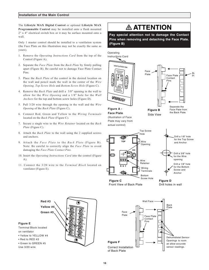 Lifebreath Operation Amp Installation Manual Max Series 150