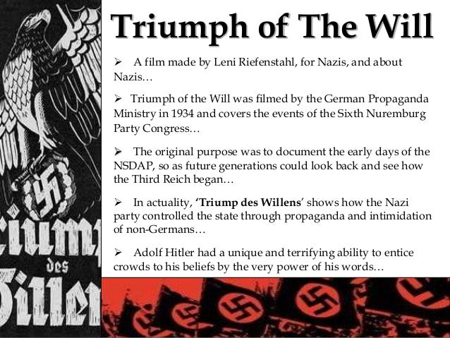 triumph of the will propaganda essay