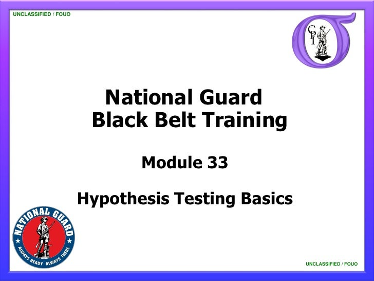 UNCLASSIFIED / FOUO   UNCLASSIFIED / FOUO                           National Guard                          Black Belt Tra...