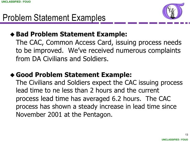 writing a problem statement for a project