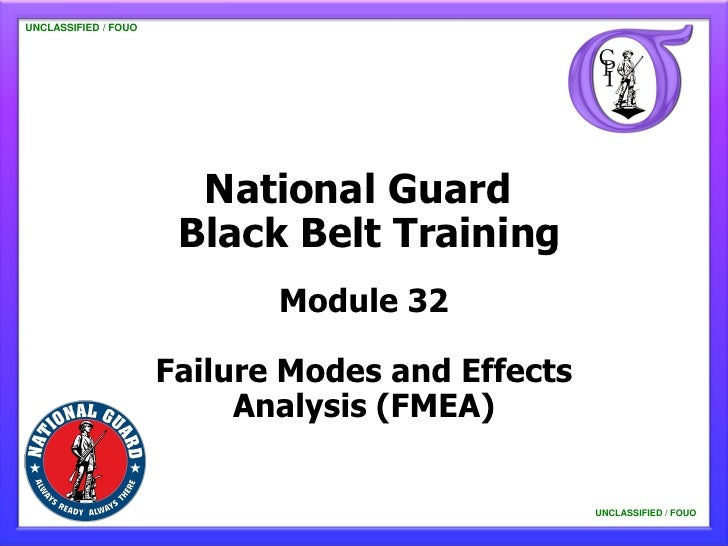 UNCLASSIFIED / FOUO   UNCLASSIFIED / FOUO                           National Guard                          Black Belt Tra...