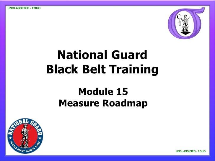 UNCLASSIFIED / FOUO   UNCLASSIFIED / FOUO                           National Guard                         Black Belt Trai...