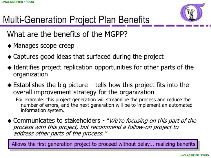 Marvelous Multi Generational Project Plan Template #9: ... 6. UNCLASSIFIED / FOUOMulti-Generation Project Plan ...