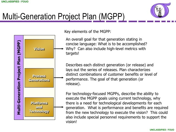 Attractive Multi Generational Project Plan Template #2: ... 8. UNCLASSIFIED / FOUOMulti-Generation Project Plan ...
