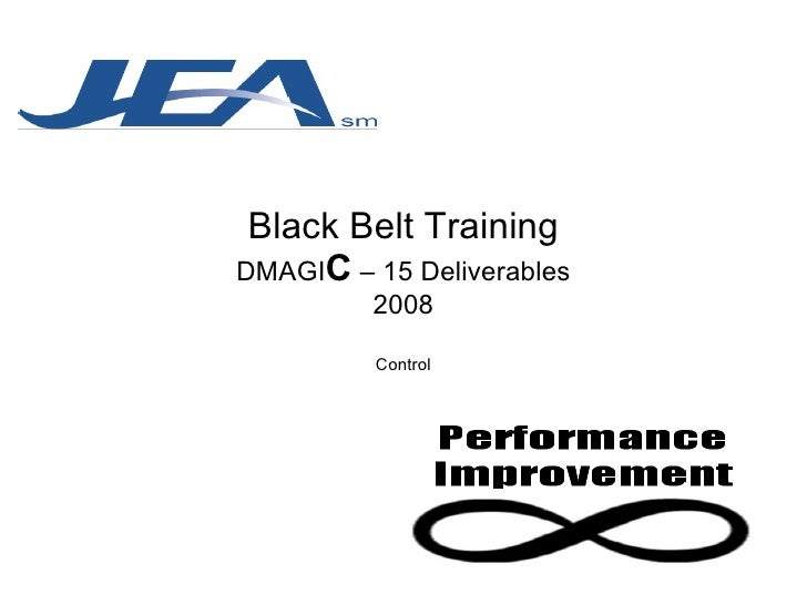 Black Belt Training DMAGI C  – 15 Deliverables 2008 Control
