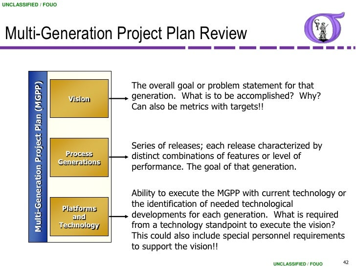 Ordinary Multi Generational Project Plan Template #5: ... 42. UNCLASSIFIED / FOUO Multi-Generation Project Plan ...