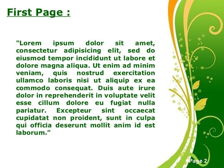 Green Floral Background Slide 2
