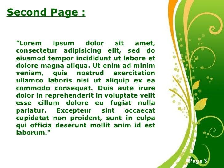 Green Floral Background Slide 3