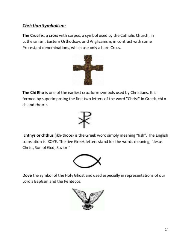 Explanations Of Christian Symbols Clipart Library