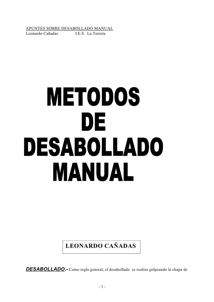 6915497 tecnicas-de-desabollado-manual