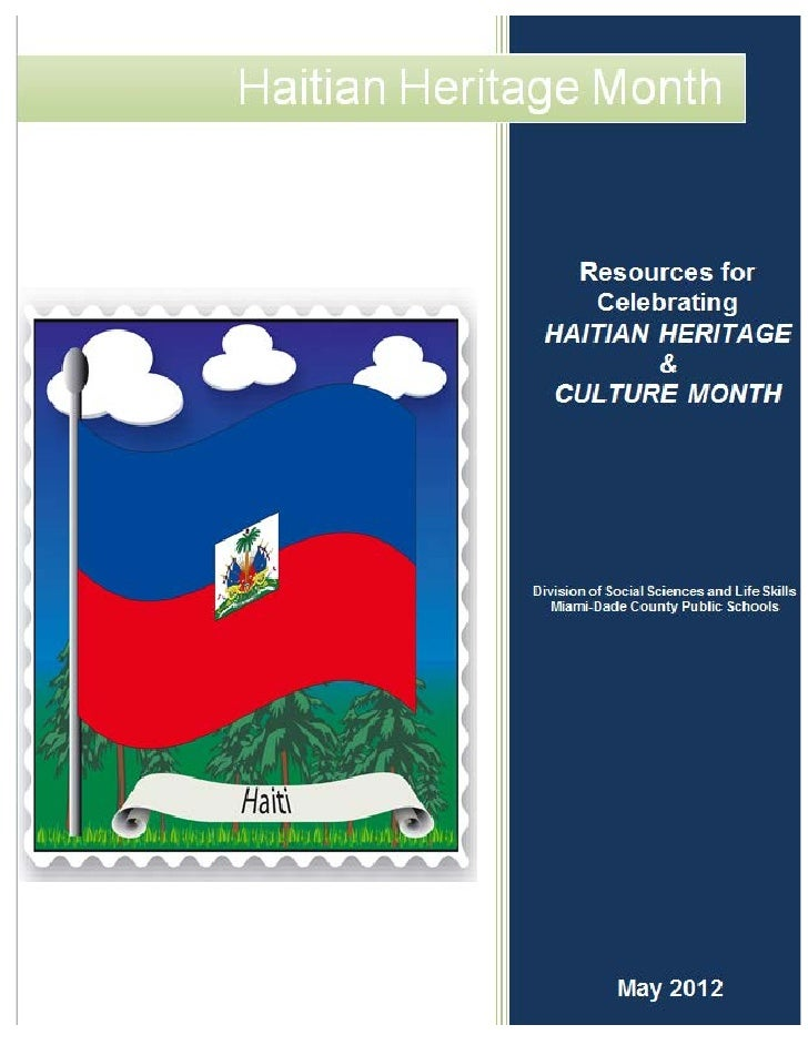 Resources for Celebrating and Recognition of Haitian                            Heritage/Culture Month                    ...