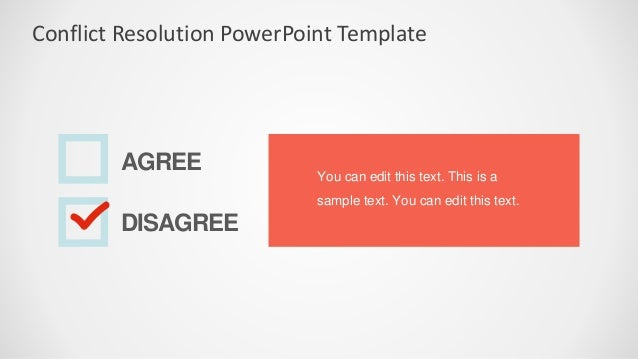 Slidemodel conflict resolution powerpoint template 5 conflict resolution powerpoint template toneelgroepblik Choice Image