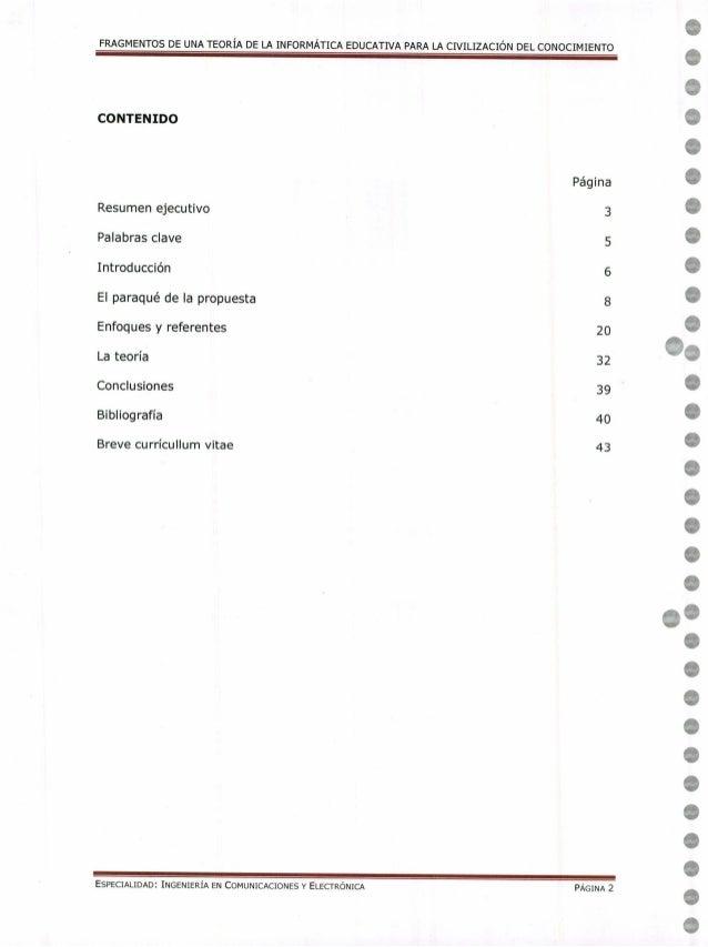 Fragmentos De Una Teor 237 A De La Inform 225 Tica Educativa Para