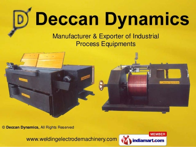 Manufacturer & Exporter of Industrial                                 Process Equipments© Deccan Dynamics, All Rights Rese...