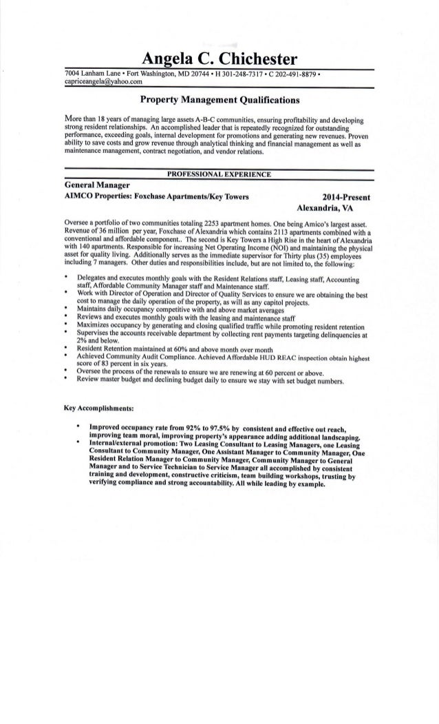 A. Chichester Resume