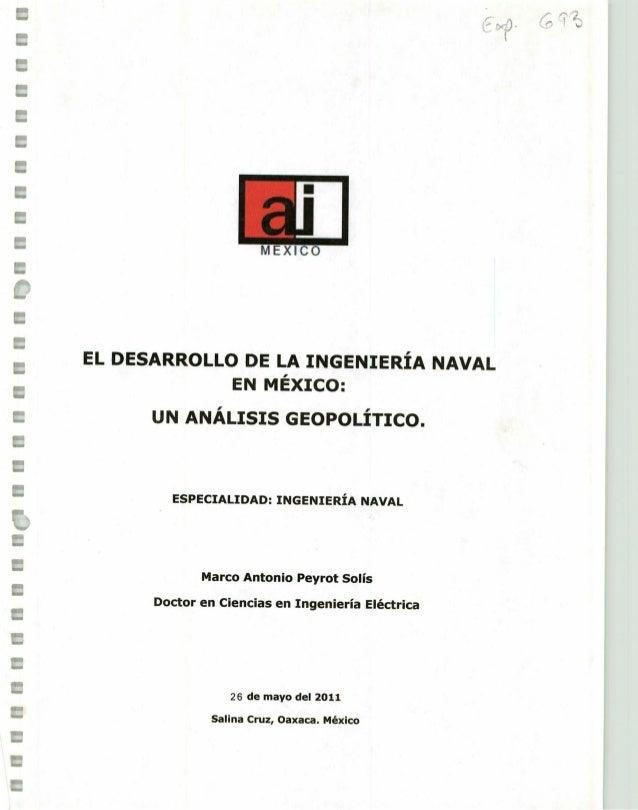 El desarrollo de la Ingeniería Naval en México: Un análisis Geopolíti…