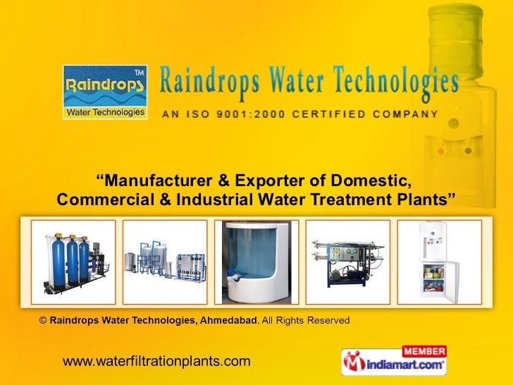 """ Manufacturer & Exporter of Domestic,  Commercial & Industrial Water Treatment Plants"""