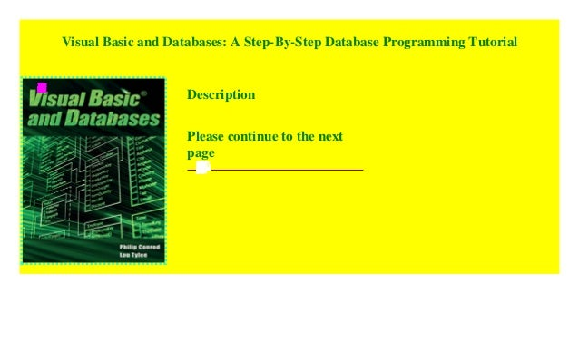 Visual Basic and Databases: A Step-By-Step Database Programming Tuto…