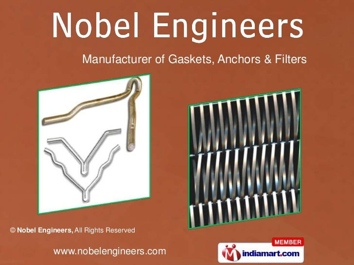 Manufacturer of Gaskets, Anchors & Filters<br />