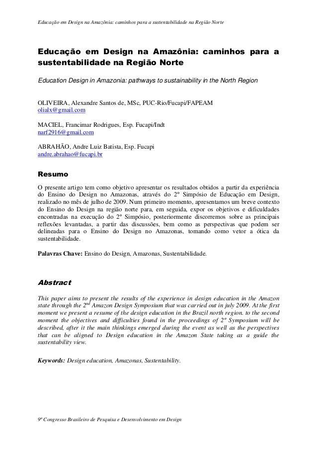 Educação em Design na Amazônia: caminhos para a sustentabilidade na Região Norte  Educação em Design na Amazônia: caminhos...