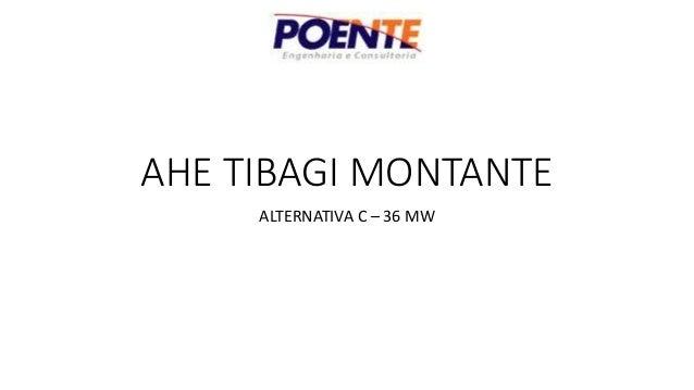 AHE TIBAGI MONTANTE ALTERNATIVA C – 36 MW