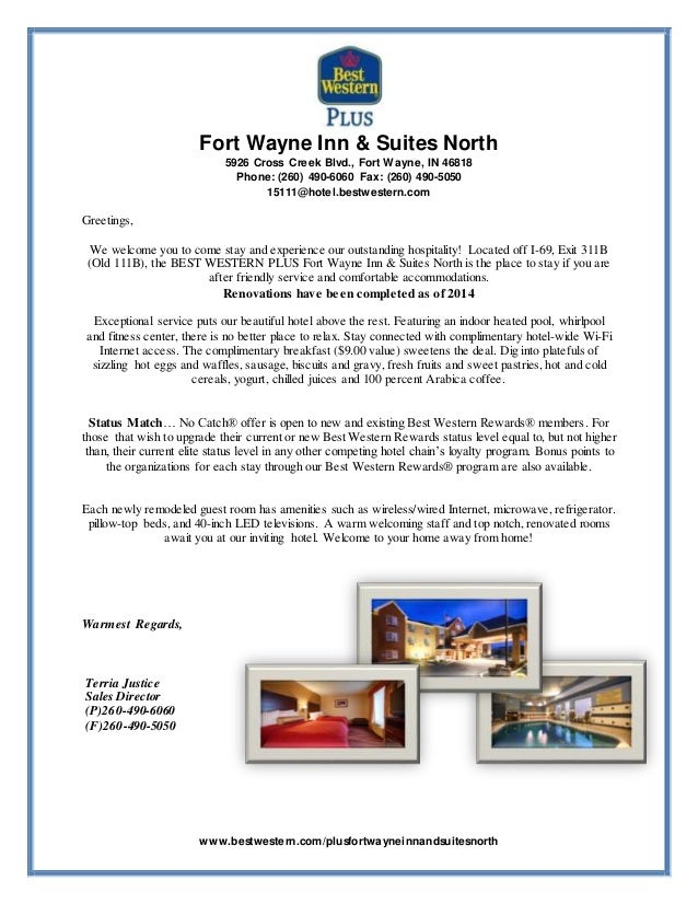 Bwp 2015 welcome letter bwp 2015 welcome letter fort wayne inn suites north 5926 cross creek blvd fort wayne in spiritdancerdesigns Choice Image