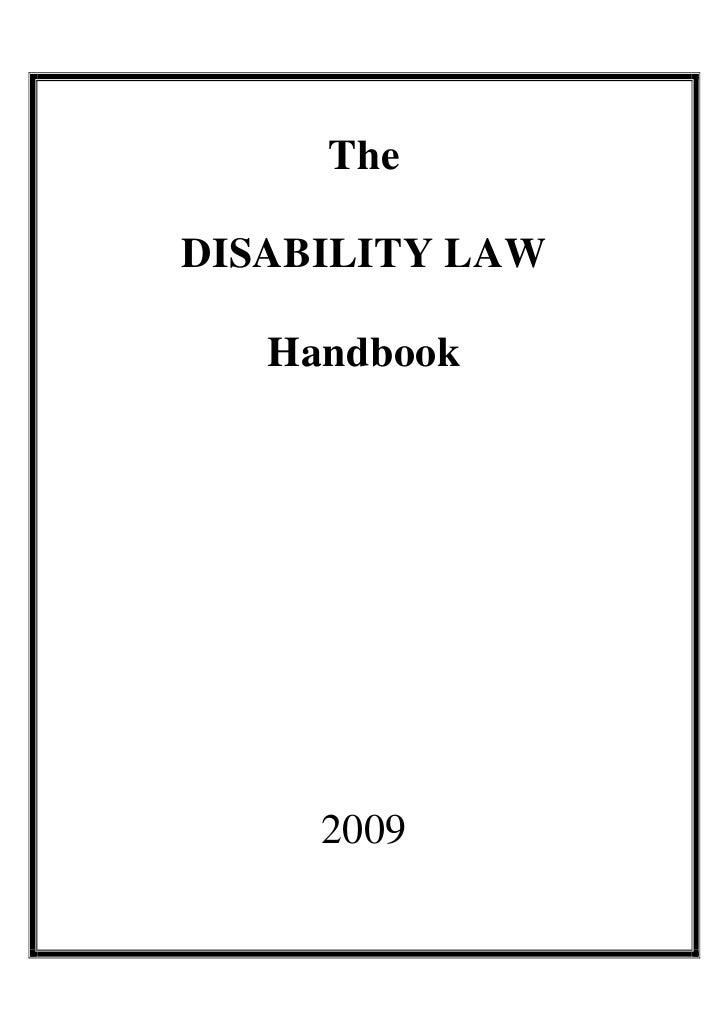 TheDISABILITY LAW   Handbook     2009