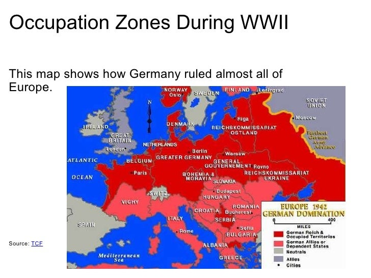 3 occupation zones during wwii
