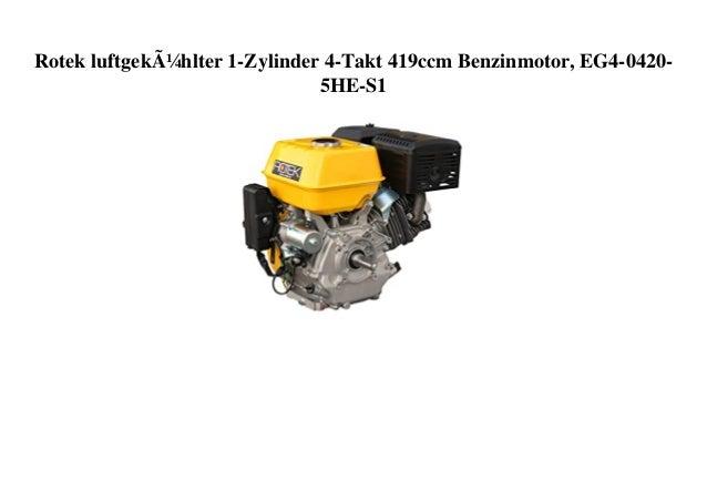 Rotek luftgekühlter 1-Zylinder 4-Takt 419ccm Benzinmotor, EG4-0420- 5HE-S1