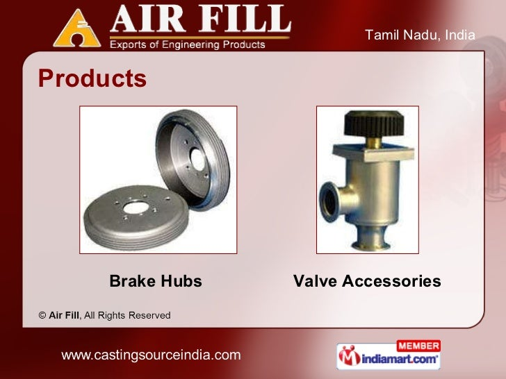 Products Brake Hubs  Valve Accessories