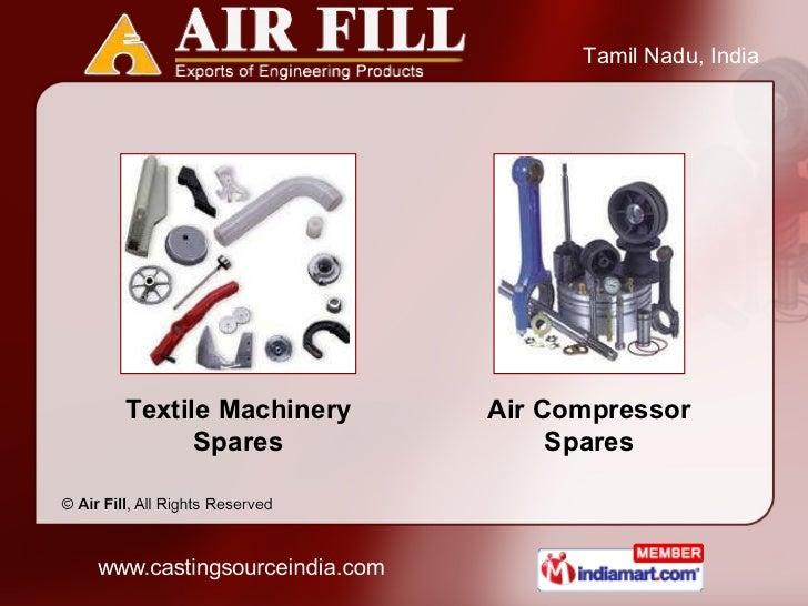 Textile Machinery Spares Air Compressor Spares