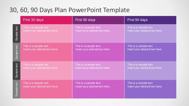 SlideModel 30 60 90 Days Plan PowerPoint Template – Sample 30 60 90 Day Plan