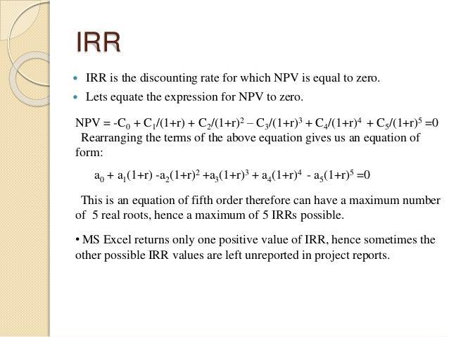 limitations of irr